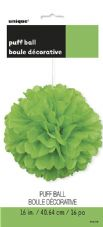 Puff Ball Decoration In Lime Green